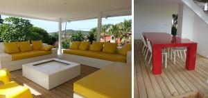 Lounge terras Eettafel